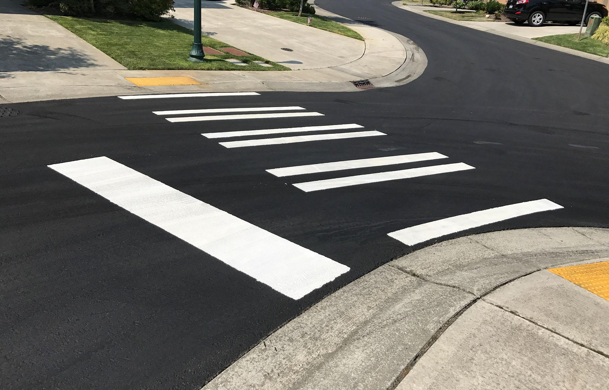 fresh asphalt