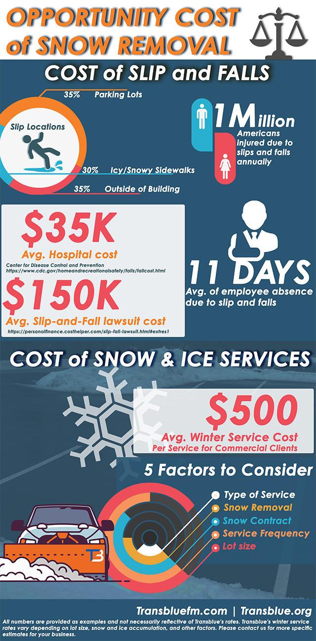 An infographic about the Opportunity Cost of Snow Removal.
